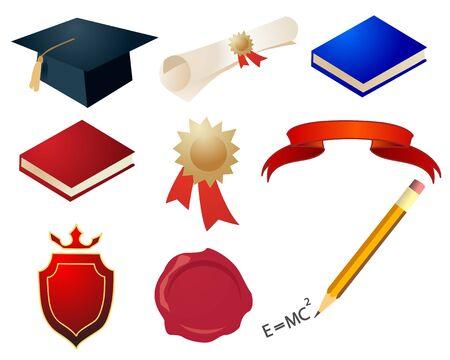 university campus: Graduation Elements