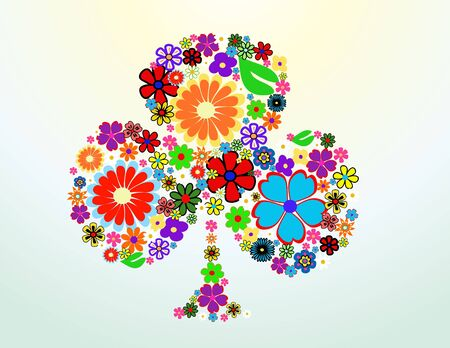 colorful spring flowers vector illustration Stock Vector - 10799964