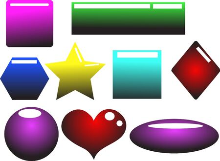Website Buttons And Shapes Stock Vector - 10799905