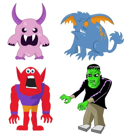 Monster and Character Set Stock Vector - 10874999