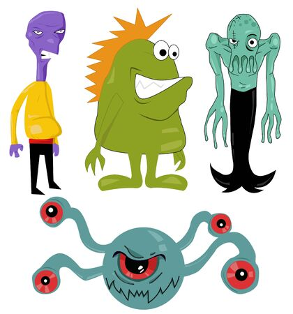 Monster and Character Set Stock Vector - 10874998