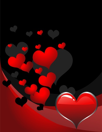 retro background with heart Stock Vector - 10874997