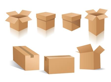 boite carton: bo�tes vectoriel