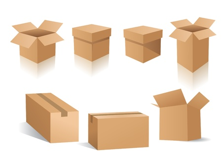 send parcel: vector boxes