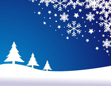 blue christmas background, vector illustration Stock Vector - 11386654