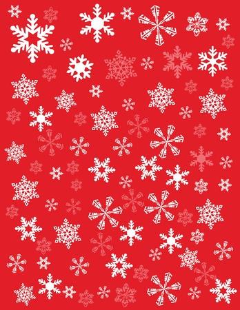 neige qui tombe: flocons de neige sur fond Illustration lecture