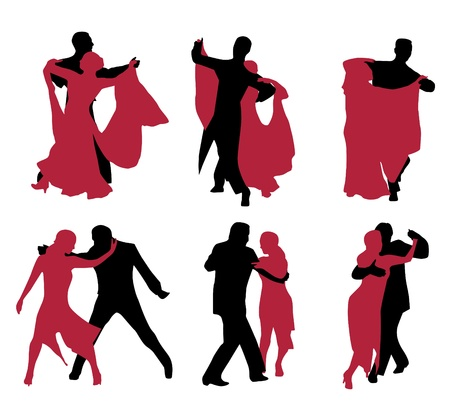 dancers isolated on white background  Stock Vector - 12035130