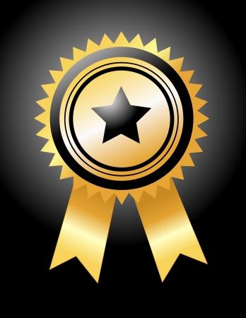primer premio: medalla de oro ilustraci�n vectorial Vectores