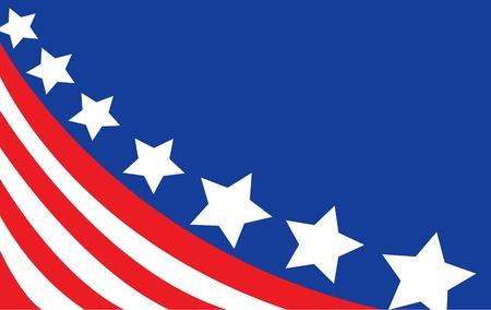 Bandiera USA in stile vettoriale Archivio Fotografico - 12185703