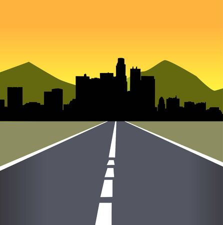 skylines: Vector illustration of urban skylines