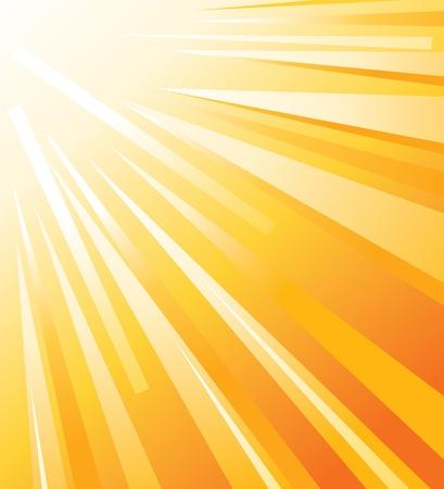el sol del verano Ilustración de vector