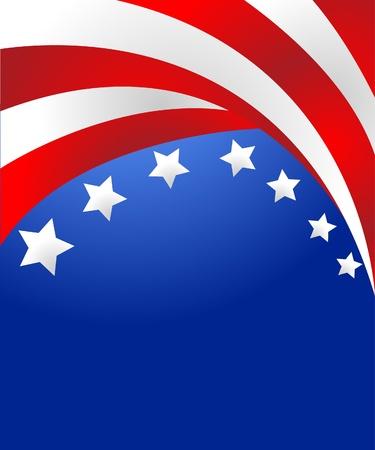 voter: Drapeau Etats-Unis en style vecteur