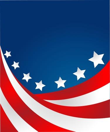 voter: Drapeau �tats-Unis en style vecteur Illustration