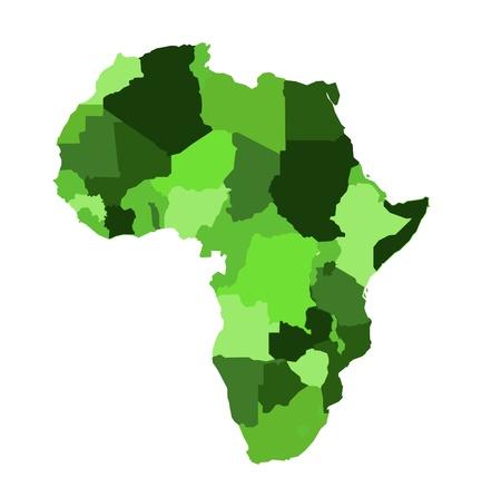 Africa map  Stock Vector - 12804546
