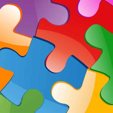 copulate: Vector illustration of puzzle pieces  Illustration