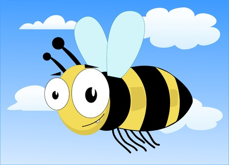 Cute bee Stock Vector - 12804547