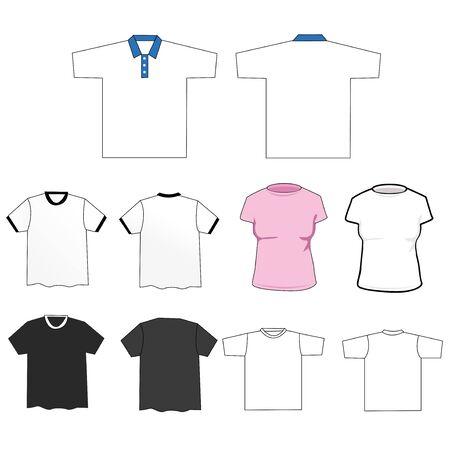 mens: Set of tee shirts Illustration