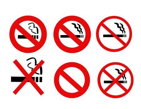 eating habits: No Smoking Sign Illustration