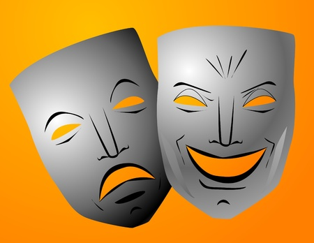 comedy tragedy: Comedy and tragedy masks