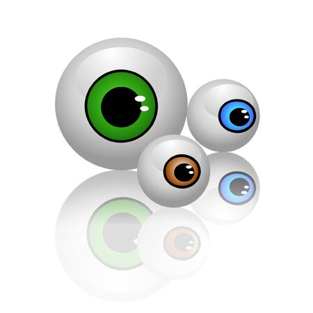 big eyes: eyeballs isolated vector Illustration
