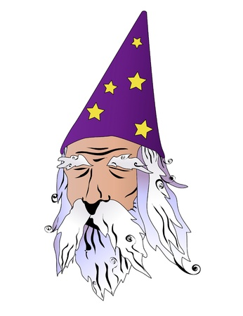 wizard vector illustration