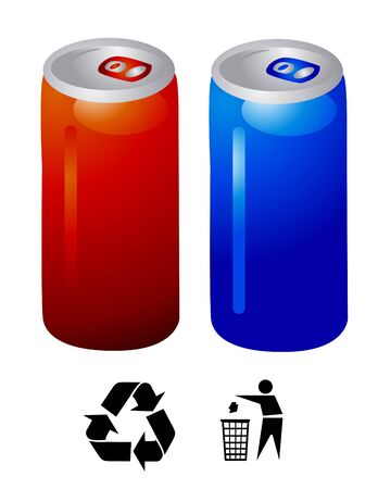 energy drink cans vector Vector