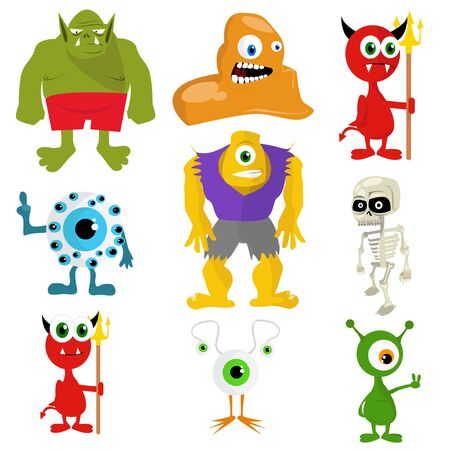 Illustration of monsters Vector