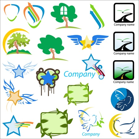 set of logos nature Vector