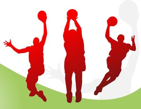 nba: Basketball players   Illustration