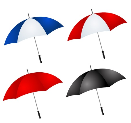 different color umbrellas vector illustration Stock Vector - 12804594
