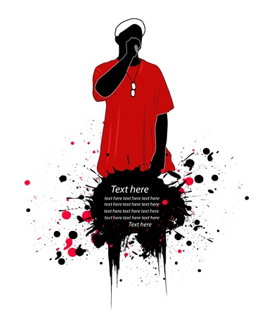 rap music: rapper vector illustration