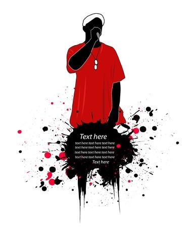 rapper vector illustration