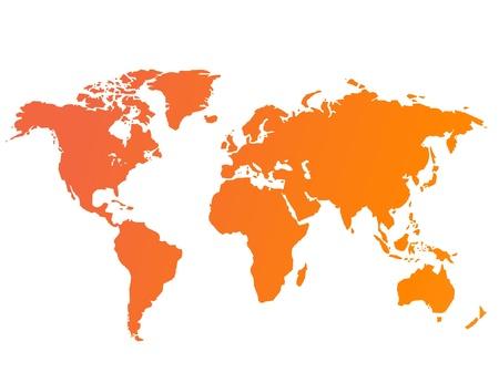 north america map: Mappa del mondo illustrazione