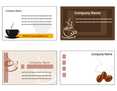 Template designs of menu and business card for coffee shop and restaurant Illustration