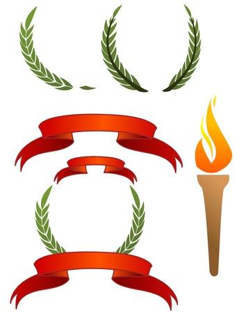 Olympische tekenen Stock Illustratie