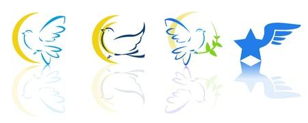 비둘기 비행 로고 스톡 콘텐츠 - 13121663