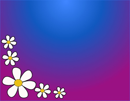 background with flowers in warm colors   Vector