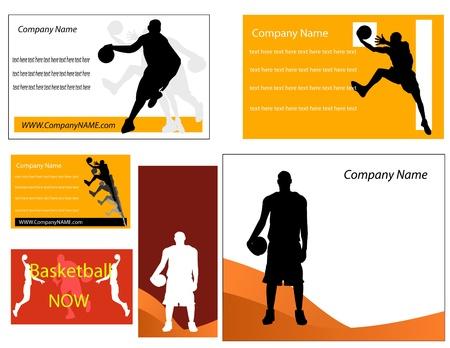 basketball net: baloncesto de la tarjeta de visita y un p�ster