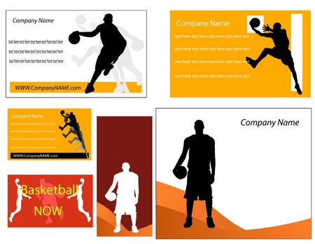 basketball dunk: basketball business card and poster