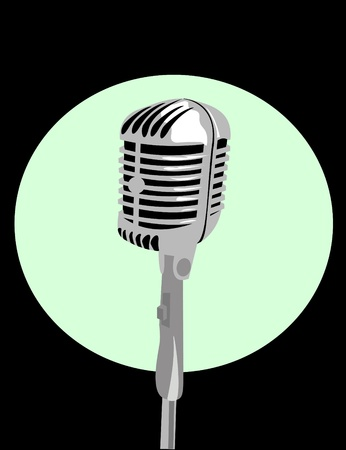 talk show: vector microphone