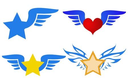Logotipo del ala Foto de archivo - 13737625