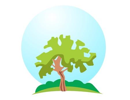 lone: Vector tree logo