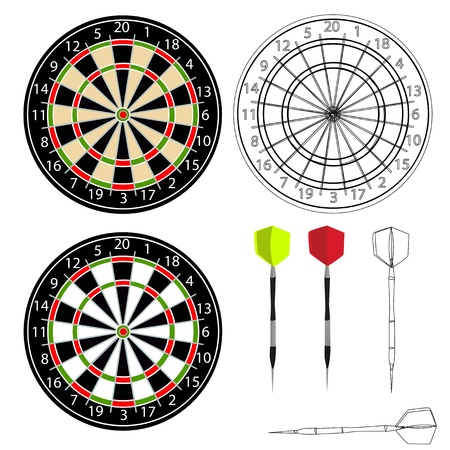 dart board: Darts vector