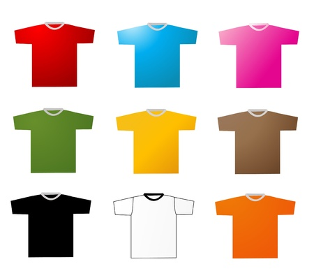 mens: Set of tee shirts vector Illustration