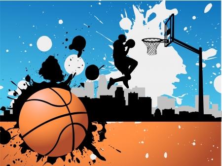 basket ball: Basketball player  Illustration