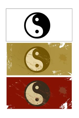feng shui: Yin and Yang sign vector