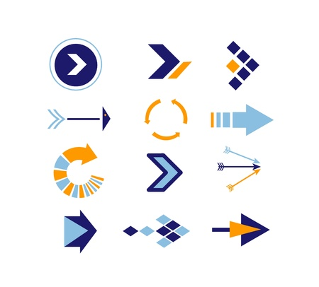 new start: Directions Icons vector Illustration