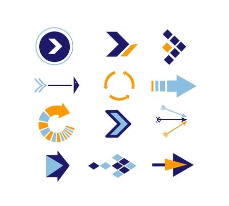 Directions Icons vector Stock Illustratie
