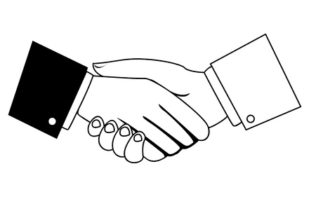 business people shaking hands: businessmen shaking hands   Illustration