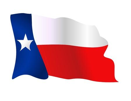 텍사스의 국가의 국기를 흔들며 스톡 콘텐츠 - 14347953